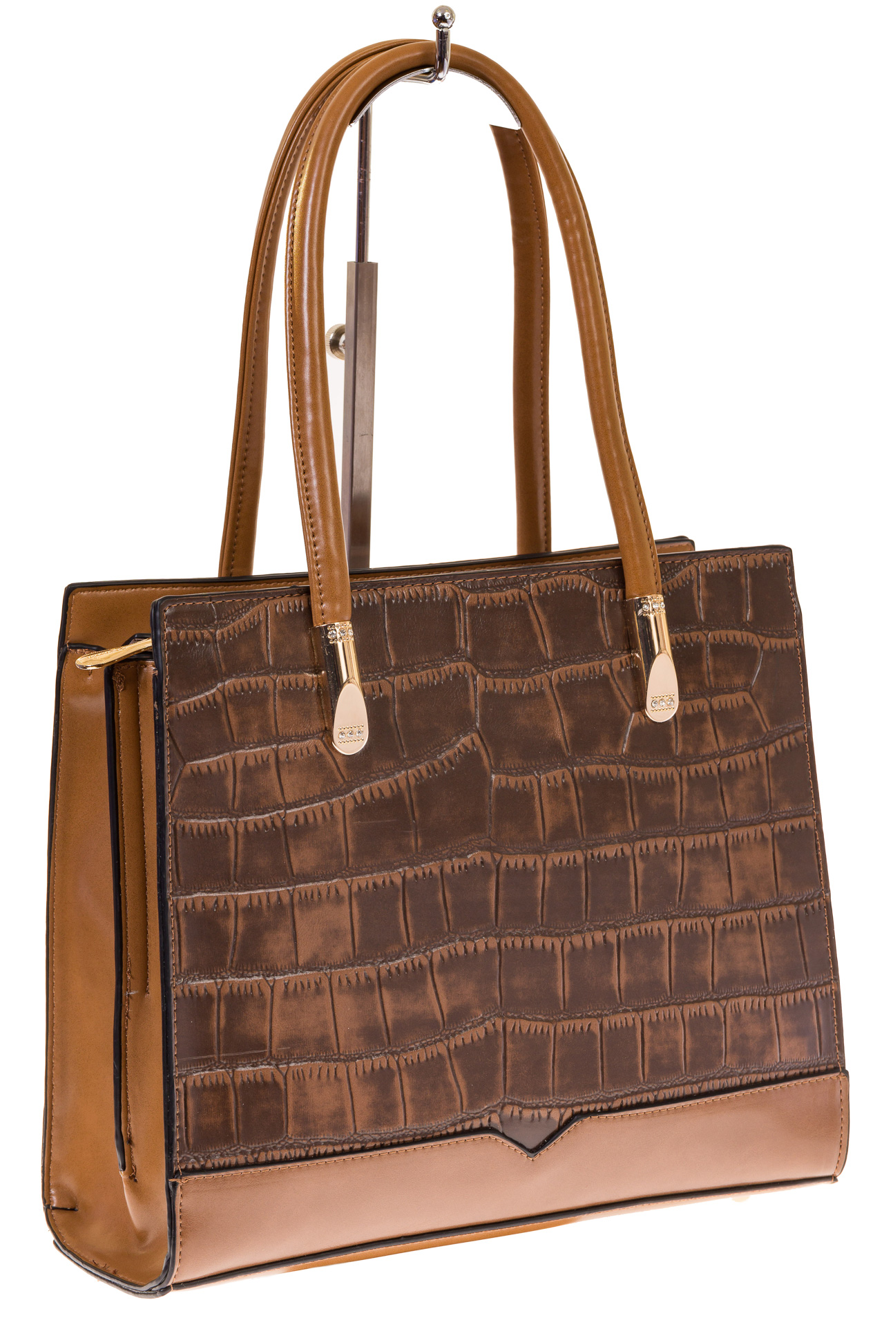 На фото 1 - Строгая сумка из искусственной кожи