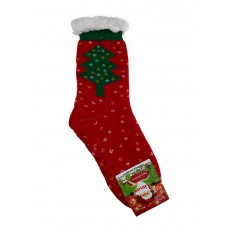 На фото 1 - Новогодние подарочные носки, цвет красный