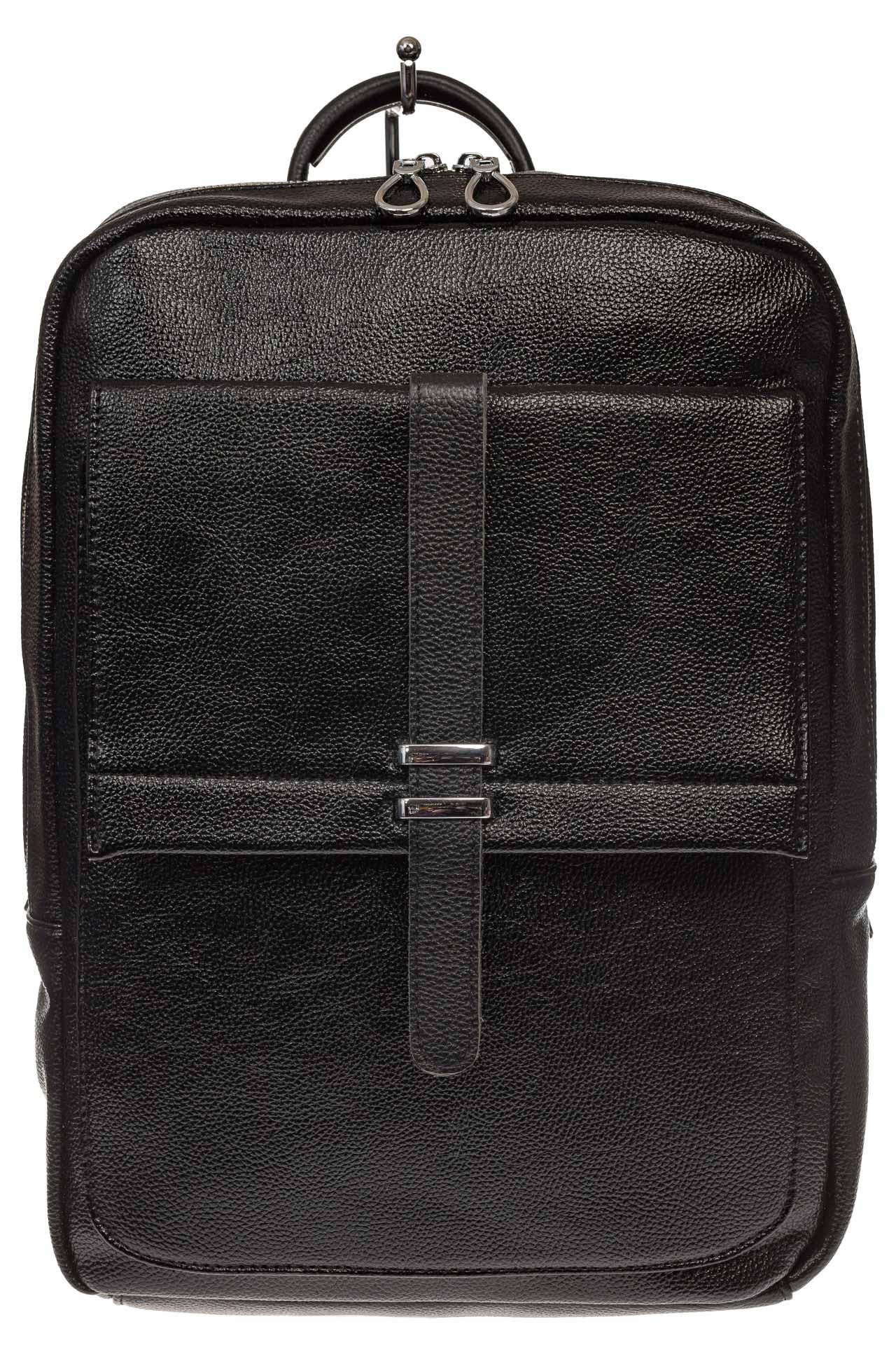 На фото 2 - Черная мужская сумка из искусственной кожи