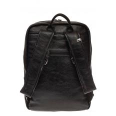 На фото 3 - Черная мужская сумка из искусственной кожи
