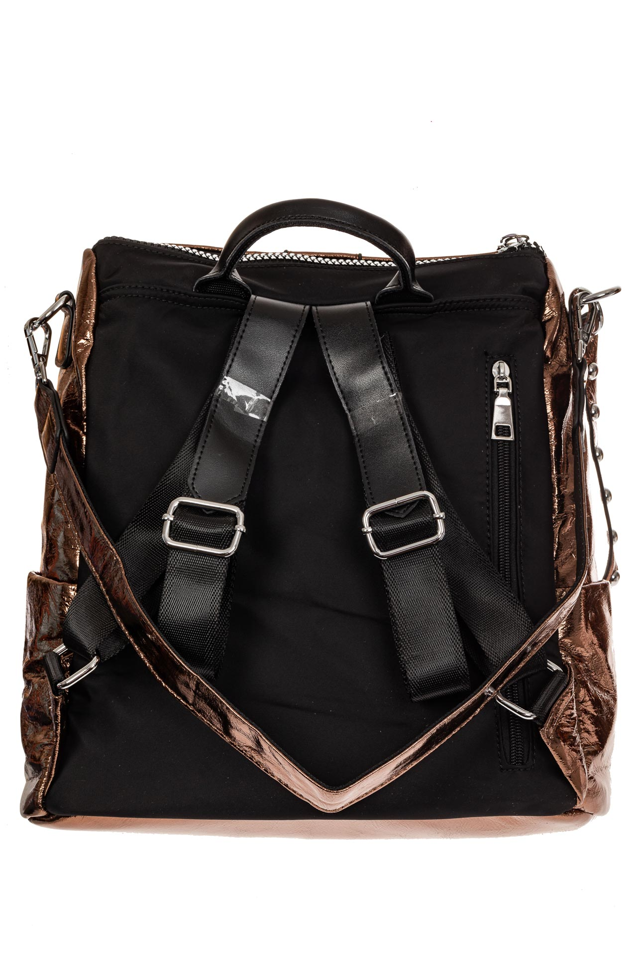 На фото 2 - Большой городской рюкзак из искусственной кожи, цвет бронза