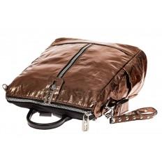 На фото 3 - Большой городской рюкзак из искусственной кожи, цвет бронза