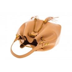 На фото 4 - Женская сумка-торба бежевого цвета из эко-кожи 68065