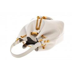 На фото 4 - Женская сумка-торба белого цвета из эко-кожи 68065