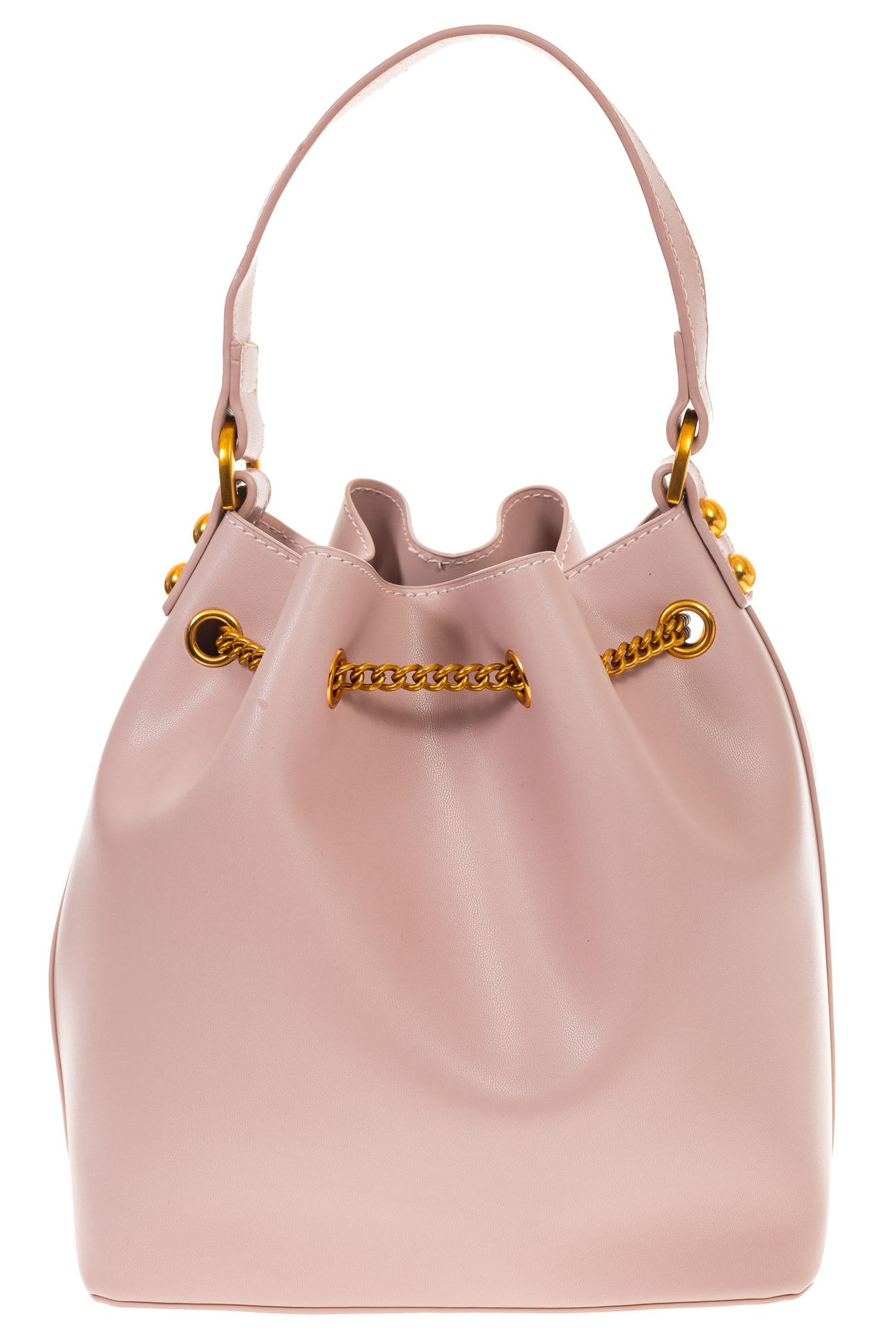 На фото 3 - Женская сумка-торба розового цвета из эко-кожи 68065