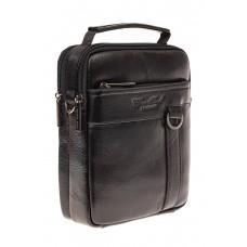 На фото 1 - Мужская сумка через плечо на каждый день, черная
