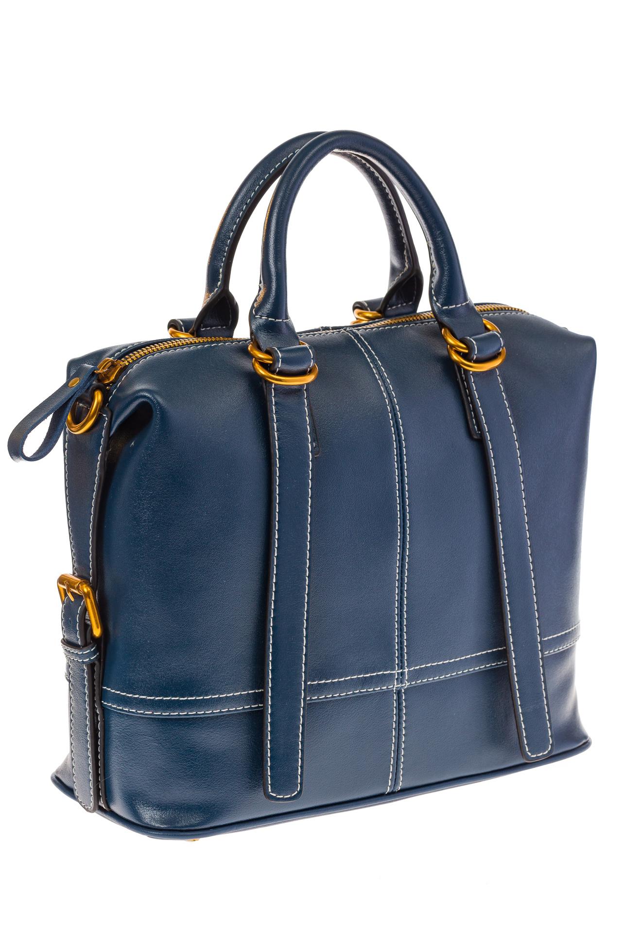 Синий Handheld bag с золотой фурнитурой, фото. Женские сумки оптом