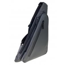 На фото 1 - Молодёжная нагрудная сумка из текстиля, цвет серый