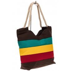 На фото 1 - Пляжная сумка-шоппер с ручками из каната, ц...