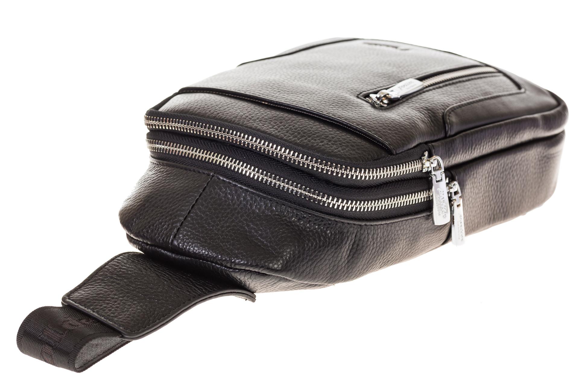 На фото 4 - Мужской sling bag из натуральной кожи 6872MM5