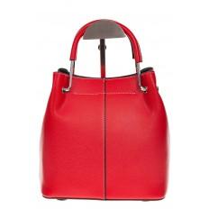 На фото 3 - Женская красная сумка тоут из искусственной кожи
