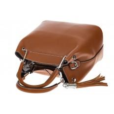 На фото 4 - Женская коричневая сумка тоут из искусственной кожи