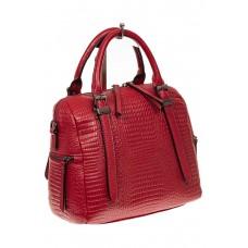На фото 1 - Женская сумка из натуральной кожи с тиснени...