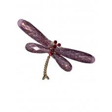 На фото 1 - Брошь бижутерия в форме стрекозы