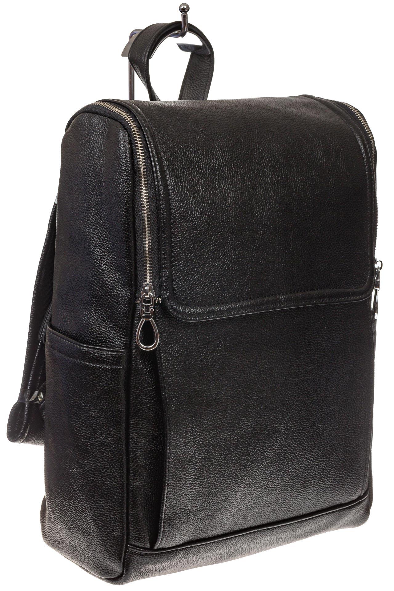 На фото 1 - Мужской рюкзак из искусственной кожи