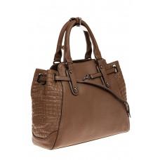 На фото 1 - Женская сумка из натуральной кожи, цвет беж...