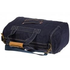 На фото 4 - Большая джинсовая сумка фирменного синего цвета