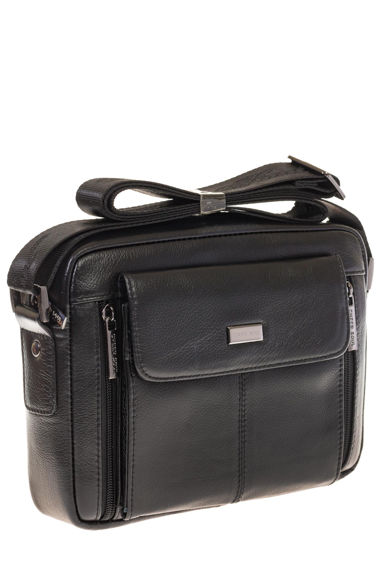 На фото 1 - Мужская сумка-барсетка из натуральной кожи 7003MM5