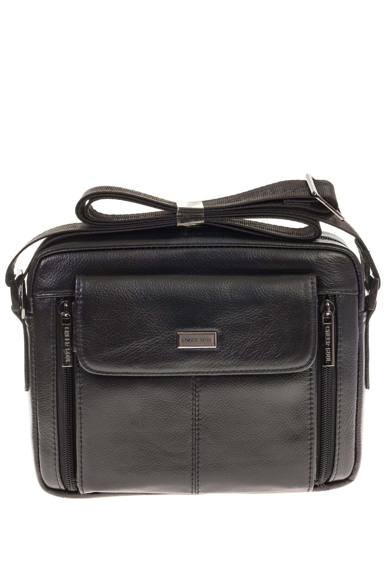 На фото 2 - Мужская сумка-барсетка из натуральной кожи 7003MM5