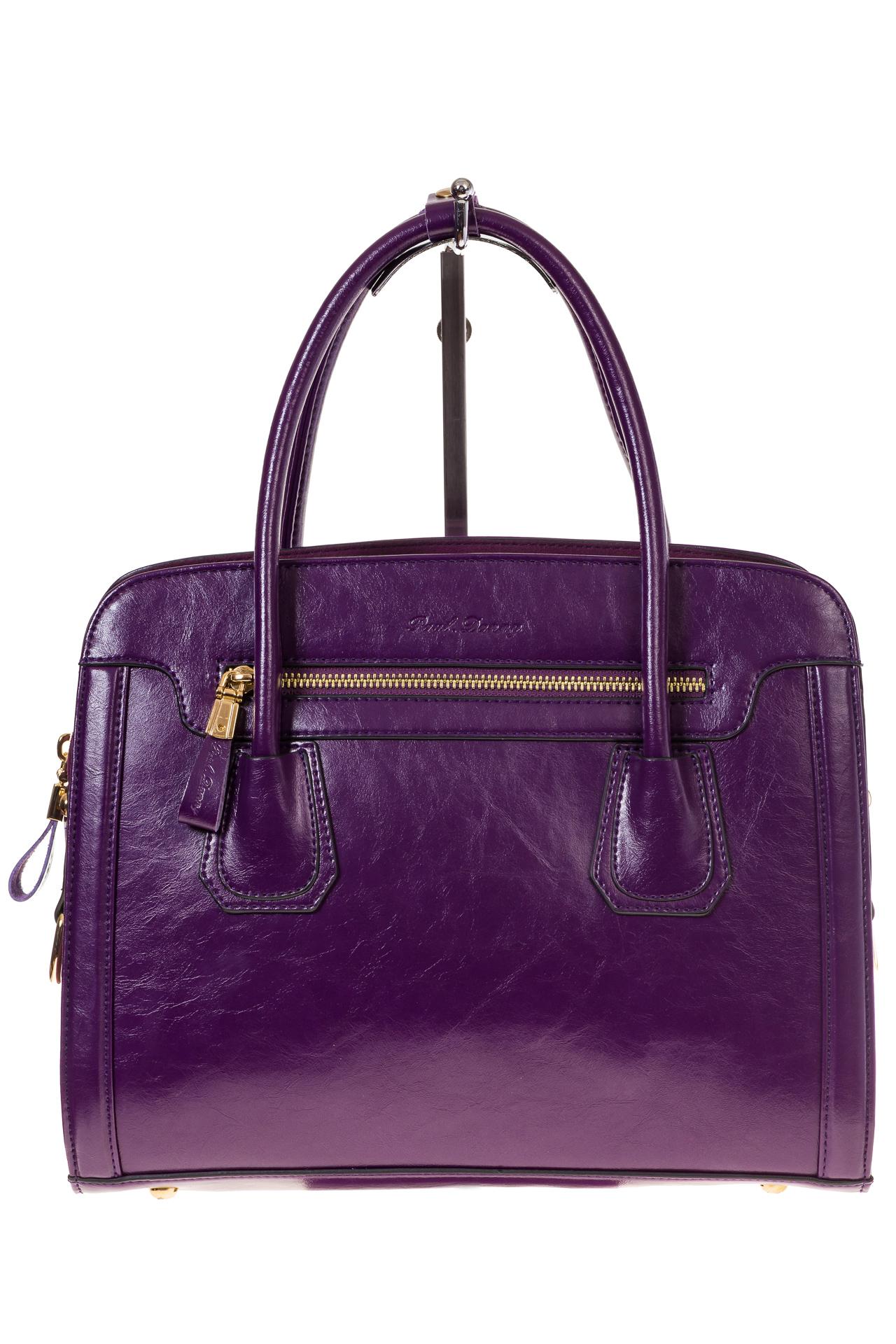 На фото 2 - Классическая женская сумка из натуральной кожи