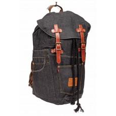 На фото 1 - Городской рюкзак мужской из джинсовой ткани...