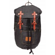 На фото 2 - Городской рюкзак мужской из джинсовой ткани, цвет темно-серый