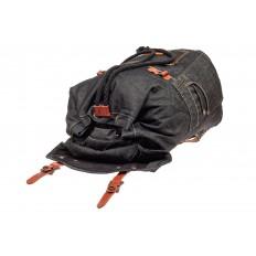 На фото 4 - Городской рюкзак мужской из джинсовой ткани, цвет темно-серый
