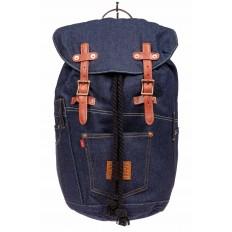 На фото 2 - Городской рюкзак мужской из джинсовой ткани, цвет синий