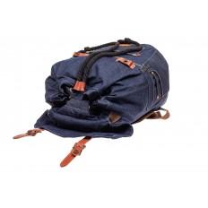 На фото 4 - Городской рюкзак мужской из джинсовой ткани, цвет синий