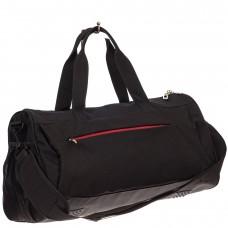 На фото 1 - Вместительная дорожная сумка, цвет черный