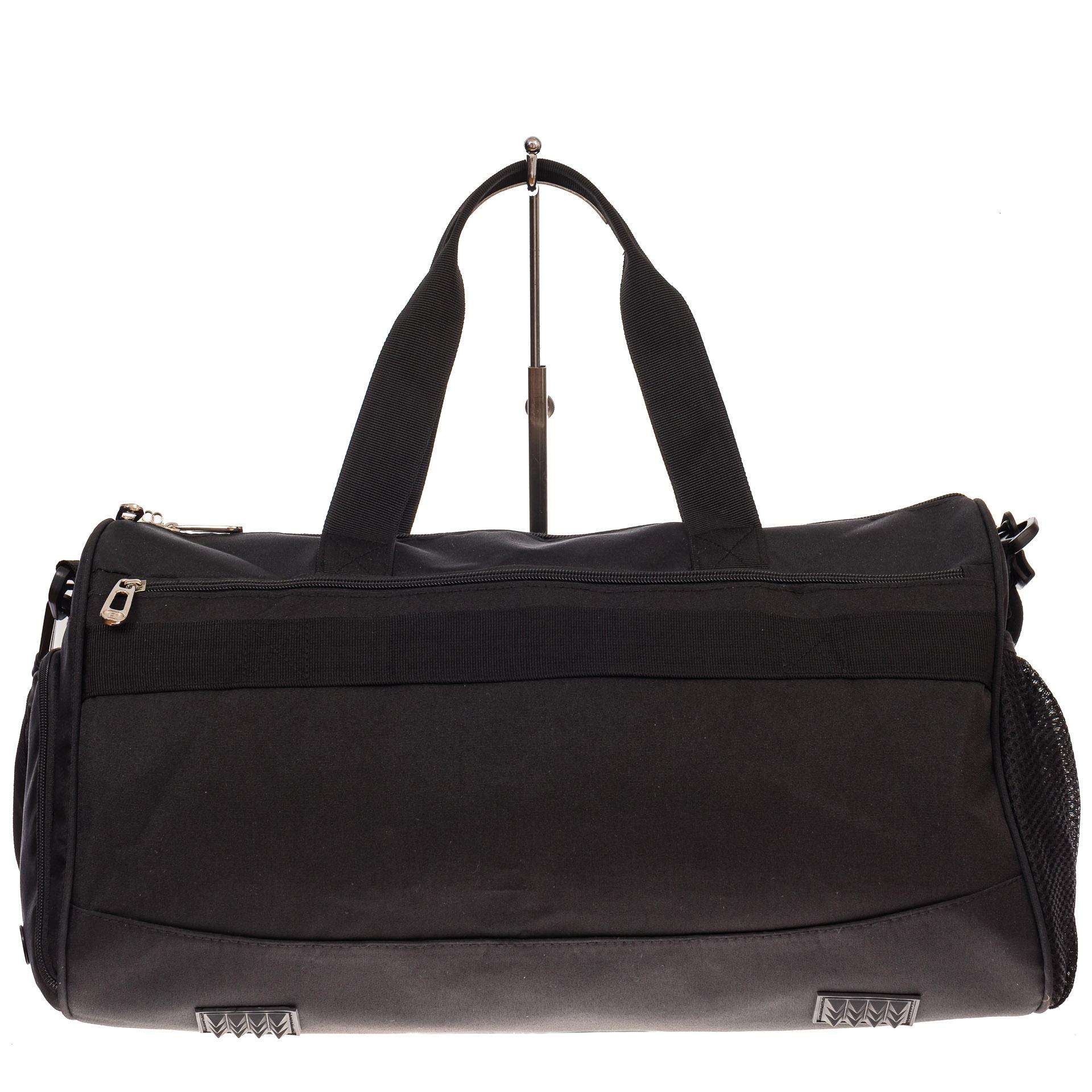 На фото 2 - Вместительная дорожная сумка, цвет черный