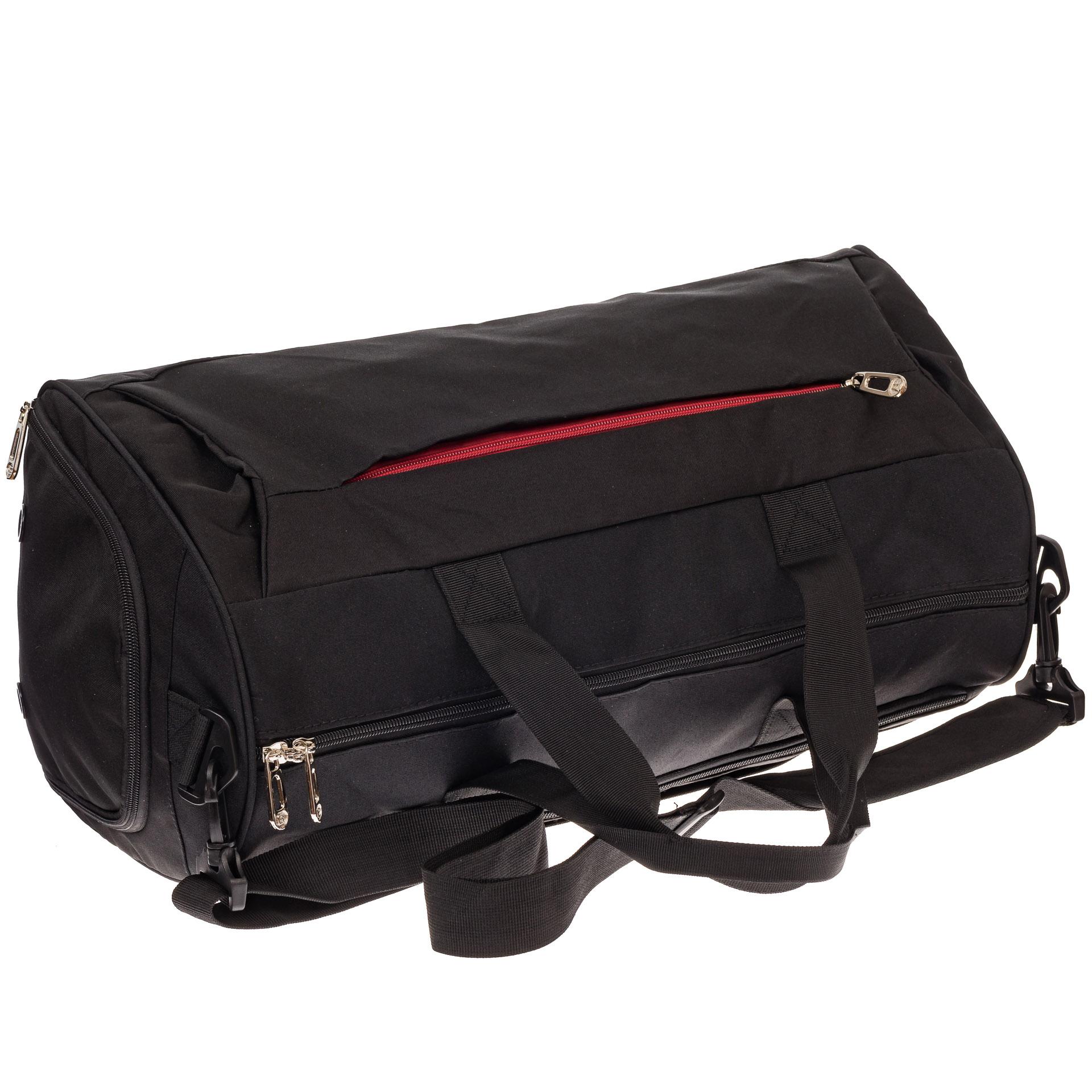 На фото 3 - Вместительная дорожная сумка, цвет черный