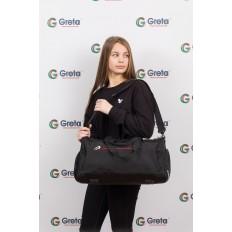 На фото 4 - Вместительная дорожная сумка, цвет черный