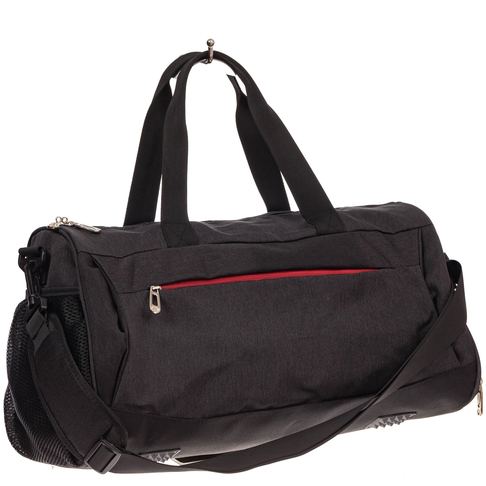 На фото 1 - Вместительная дорожная сумка, цвет серый