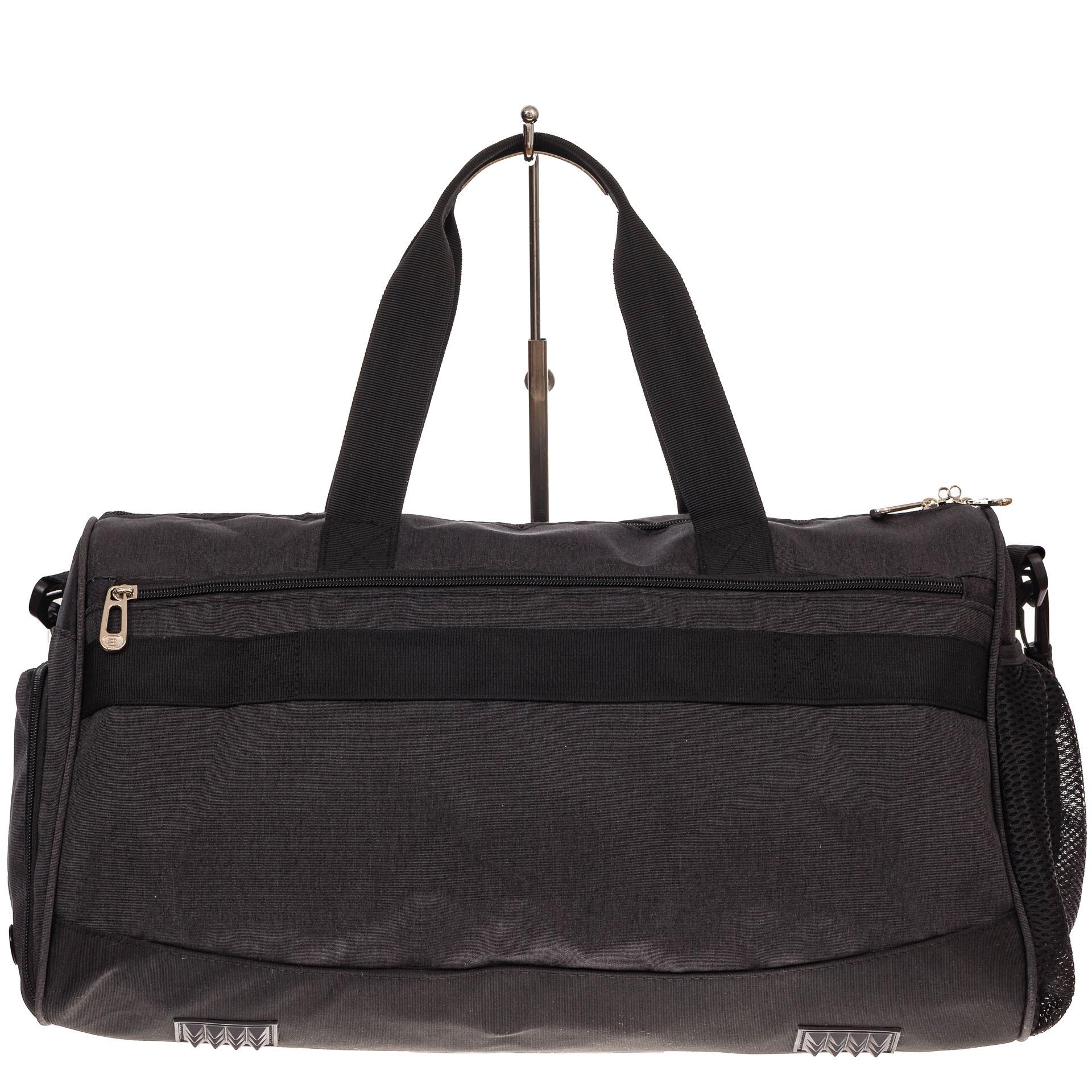 На фото 2 - Вместительная дорожная сумка, цвет серый