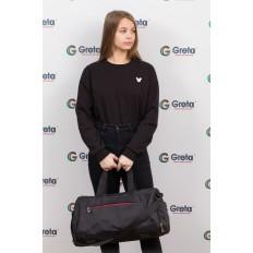 На фото 4 - Вместительная дорожная сумка, цвет серый