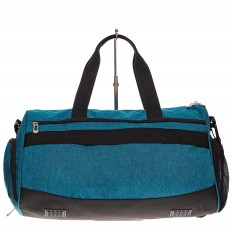 На фото 2 - Вместительная дорожная сумка, цвет голубой