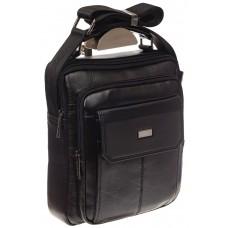 На фото 1 - Мужская горизонтальная сумка из натуральной кожи