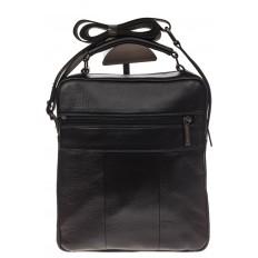 На фото 3 - Мужская горизонтальная сумка из натуральной кожи