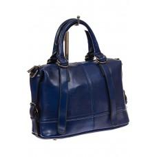 На фото 1 - Женская сумка из натуральной кожи, цвет синий