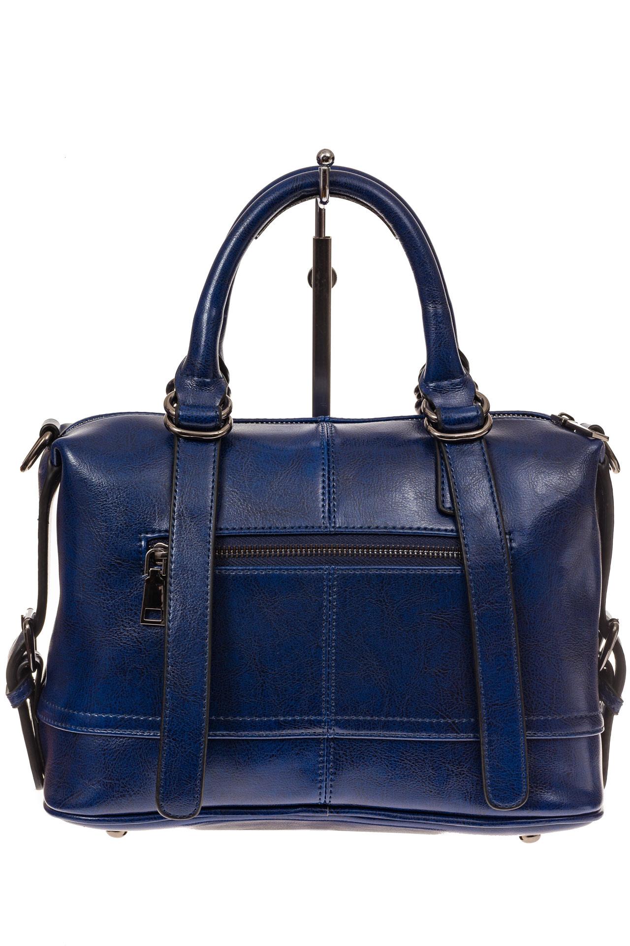 На фото 2 - Женская сумка из натуральной кожи, цвет синий