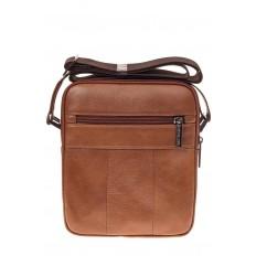 На фото 3 - Небольшая мужская сумка из натуральной кожи, цвет рыжий