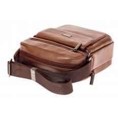 На фото 4 - Небольшая мужская сумка из натуральной кожи, цвет рыжий