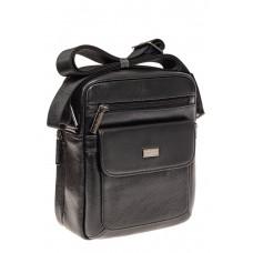 На фото 1 - Небольшая мужская сумка из натуральной кожи...