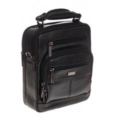 На фото 1 - Мужская сумка каскадного типа из натуральной кожи