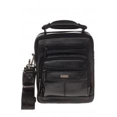 На фото 2 - Мужская сумка каскадного типа из натуральной кожи