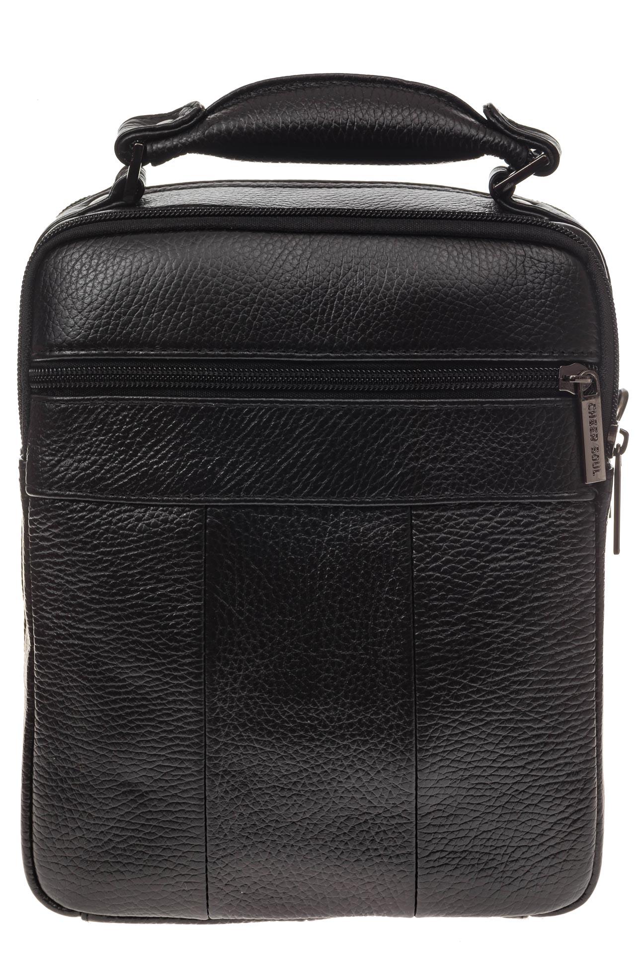 На фото 3 - Мужская сумка каскадного типа из натуральной кожи
