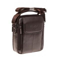 На фото 1 - Маленькая мужская сумка из натуральной кожи...
