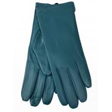 На фото 1 - Женские перчатки из натуральной кожи, цвет бирюза