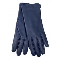 На фото 1 - Женские перчатки из натуральной кожи, цвет синий
